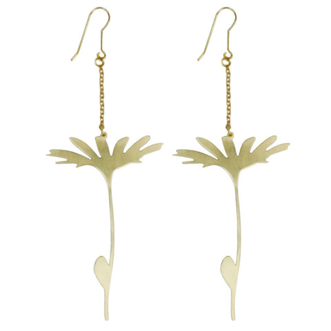 Dandelion Brass Earrings