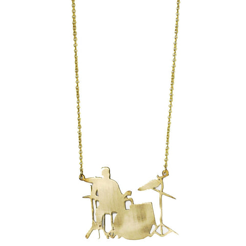 Drummer Brass Necklace