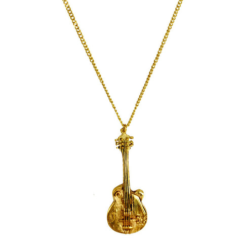 Guitar Brass Necklace