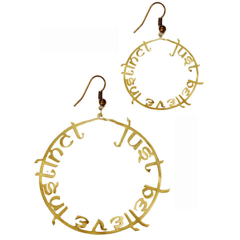 Just Believe Instinct Brass Earrings