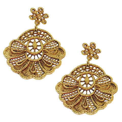 Lace Brass Earrings