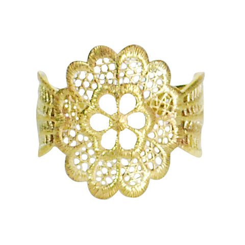 Lace Flower Brass Bracelet