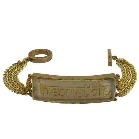 Live or Let Die Brass Bracelet
