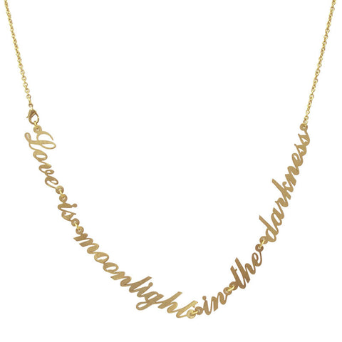 Love Is Moonlight... Brass Necklace