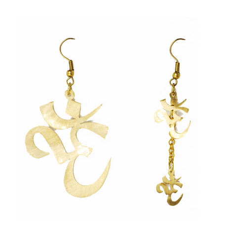 Ohm Brass Earrings