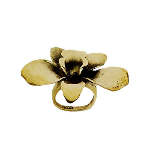 Orchid Brass Ring