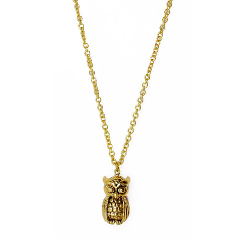 Owl Brass Necklace
