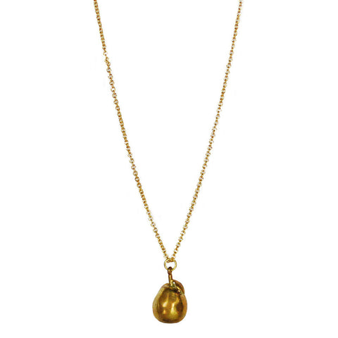 Pear Brass Necklace