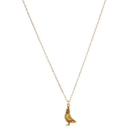 Rooster Brass Necklace