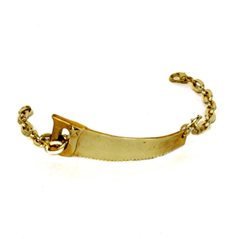 Saw Brass Bracelet