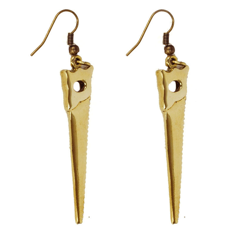 Saw Brass Earrings