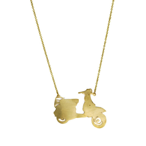 Scooter Brass Necklace