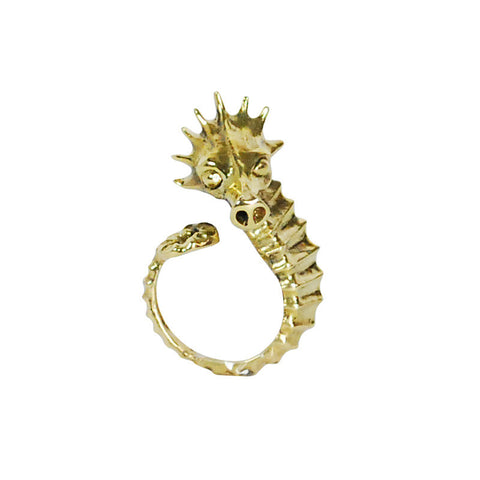 Seahorse Brass Ring