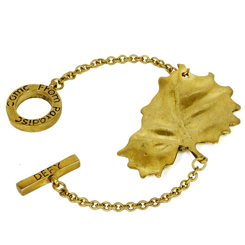Single Leaf Brass Bracelet