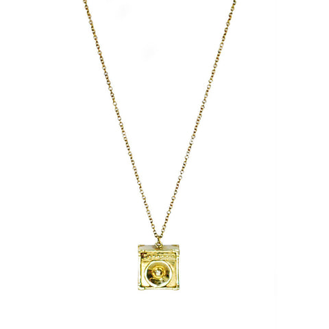 Speaker Brass Necklace