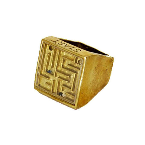 Square Game Brass Ring