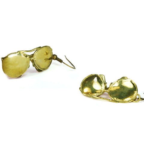 Sunglasses Brass Earrings