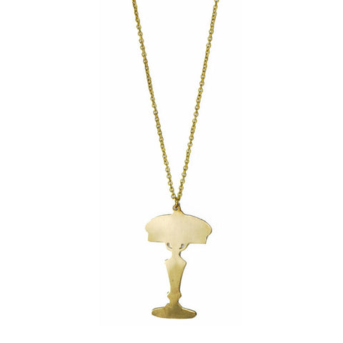 Table Lamp Brass Necklace