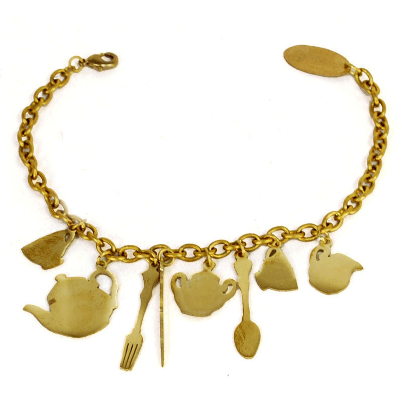 Tea Party Brass Bracelet