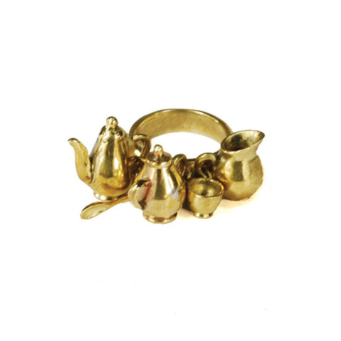 Tea Party Brass Ring