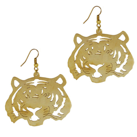 Tiger Brass Earrings