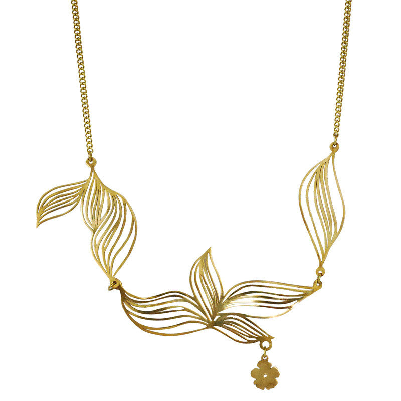 Tropicalia Brass Necklace
