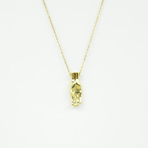 Brass Letter B Sign Language Necklace