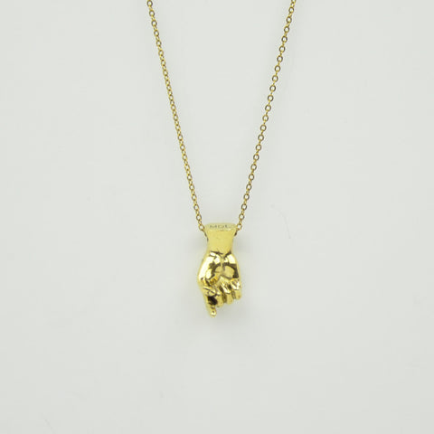 Brass Letter G Sign Language Necklace