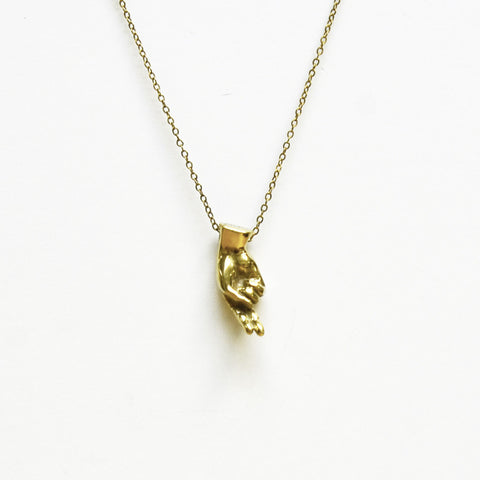 Brass Letter H Sign Language Necklace