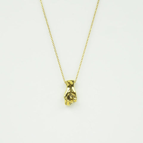 Brass Letter N Sign Language Necklace
