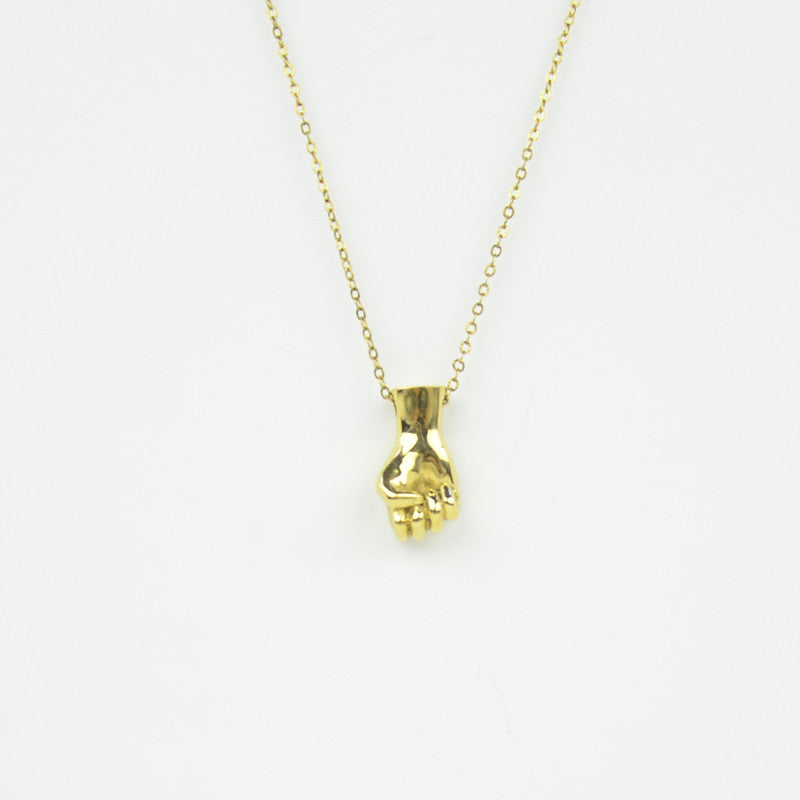 Brass Letter S Sign Language Necklace