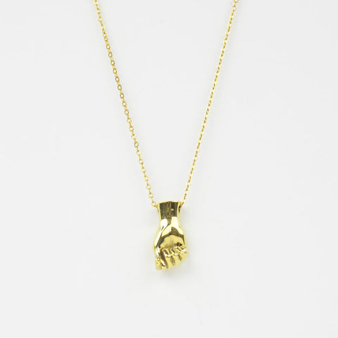 Brass Letter T Sign Language Necklace