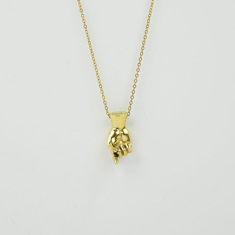 Brass Letter Z Sign Language Necklace