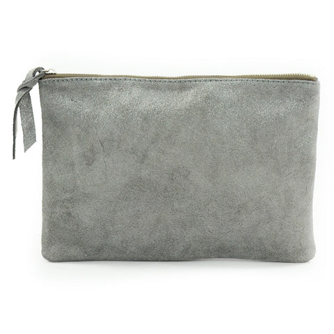 Cava Large Pouch Grey (Silver)