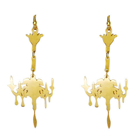 Chandelier Brass Earrings