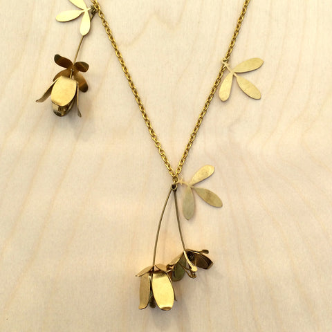 Lotus Brass Necklace