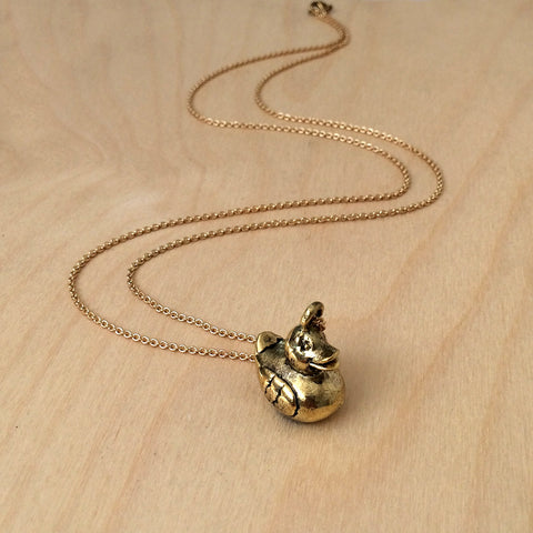 Rubber Duckie Brass Necklace