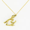 Frog Skull Brass Necklace