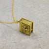 Spiritual Book Brass Necklace