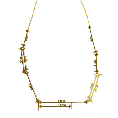 Measurements Brass Necklace