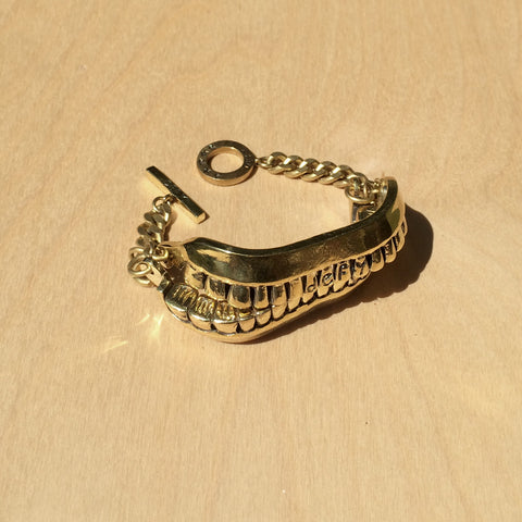 Teeth Brass Bracelet
