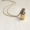 Fire Extinguisher Brass Necklace