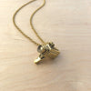 Camera Brass Necklace