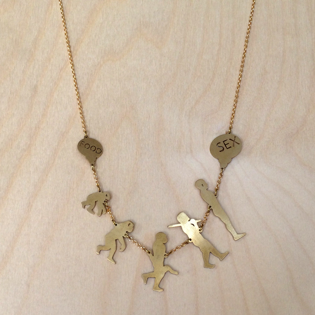Evolution Brass Necklace