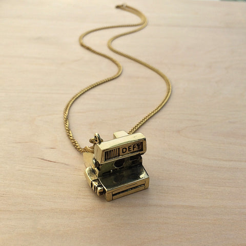 Polaroid Brass Necklace