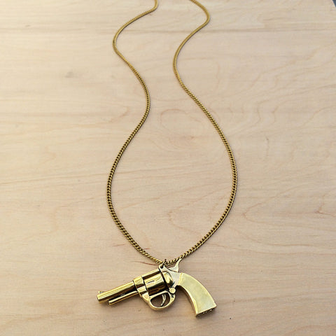 Gun Brass Necklace