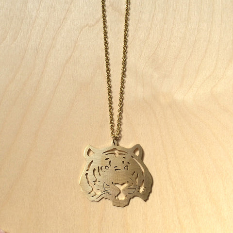 Tiger Brass Necklace