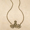 Octopus Brass Necklace