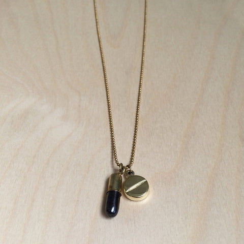 RX Brass Necklace