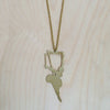 2D Ballerina Brass Necklace